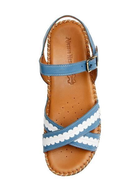 Босоножки женские Alessio Nesca 710018063 голубые/белые 38 RU