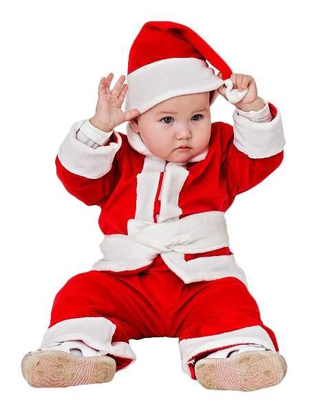 Карнавальный костюм Бока Санта-Клаус, цв. красный р.86