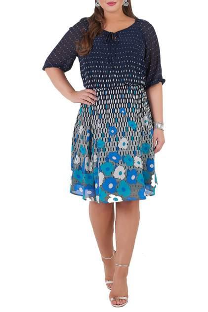 Платье женское MONTEBELLUNA SS-DR-17004 синее 56 RU