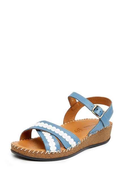 Босоножки женские Alessio Nesca 710018063 голубые/белые 39 RU