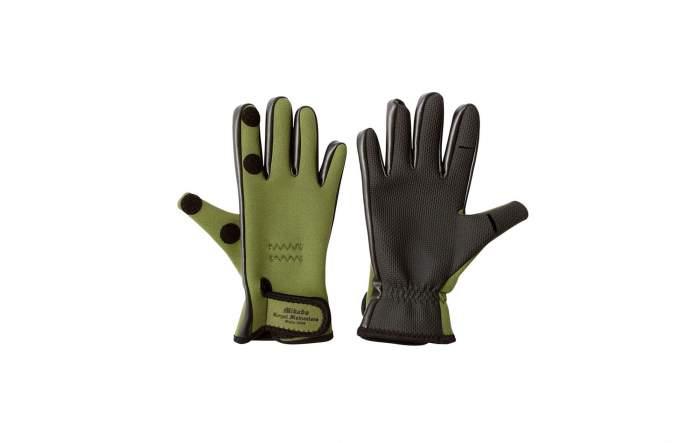 Перчатки мужские Mikado UMR-03, зеленые/черные, M