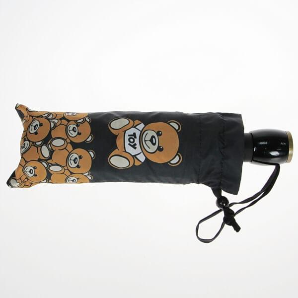 Зонт складной женский автоматический MOSCHINO 8000-OCA черный