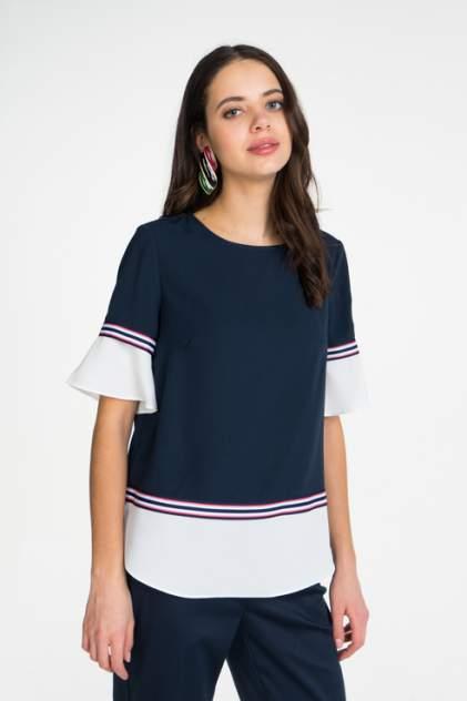 Блуза женская ZARINA 9224114314 синяя 46 RU