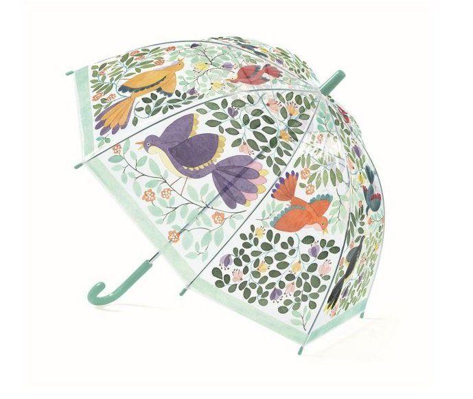 Зонтик Djeco Цветы и птицы прозрачный
