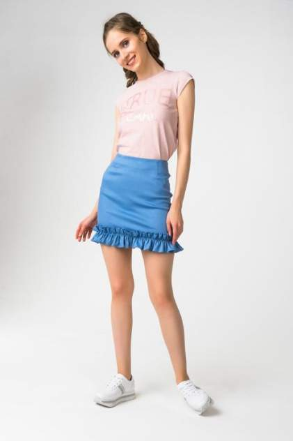 Юбка женская Fashion.Love.Story. 18SP6032 голубая 40 RU