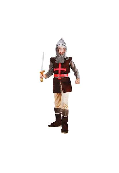Карнавальный костюм Snowmen Рыцарь, цв. коричневый; красный; серый р.134