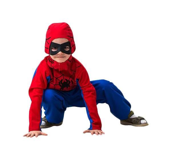 Карнавальный костюм Бока Человек-Паук, цв. синий; красный р.104