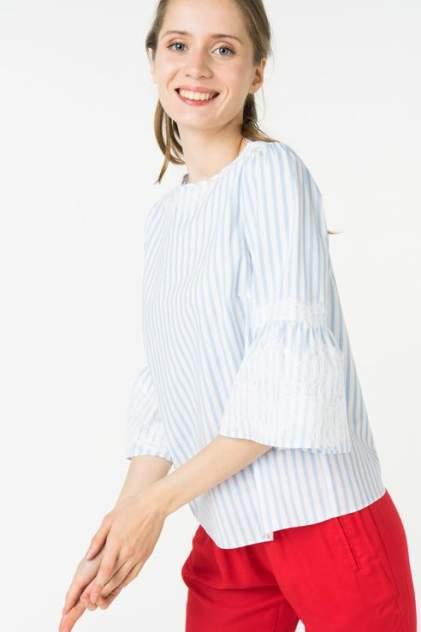 Блуза женская ZARINA 8225107335041 голубая 48 RU