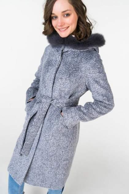 Пальто женское ElectraStyle НП4У-7123-271 голубое 50 RU
