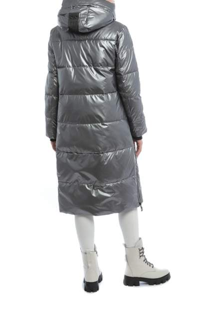 Пуховик-пальто женский CESARE GASPARI D-519-K-49 серебристый 52