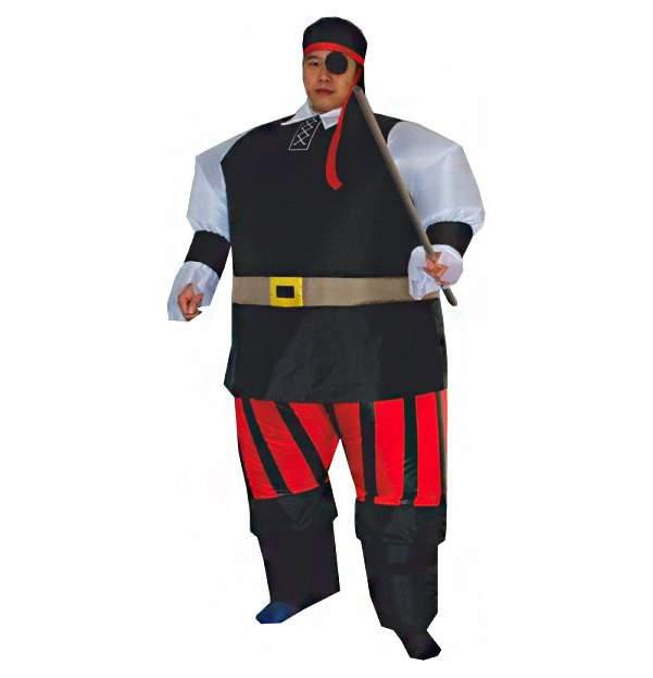 Карнавальный костюм XMAS-GROUP Пират, цв. красный; черный р.172