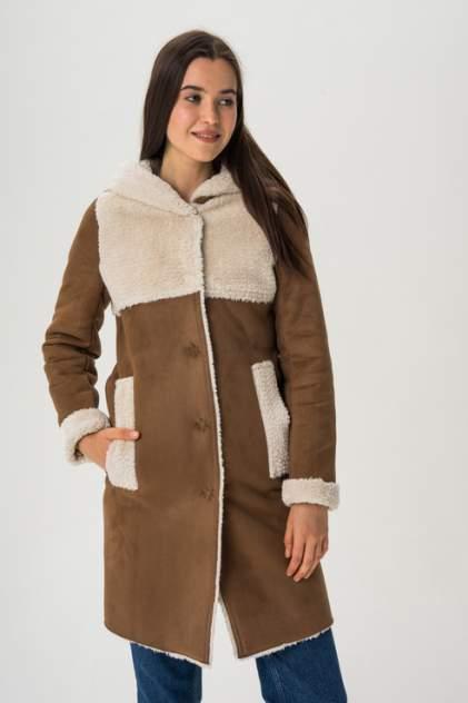 Дубленка женская ElectraStyle 3-7121-211/212, цвет коричневый