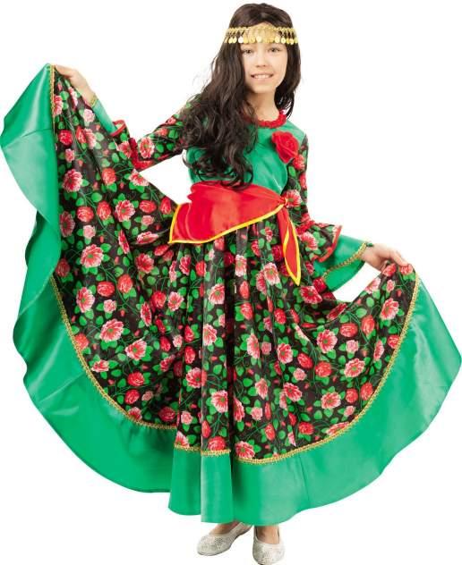 Карнавальный костюм Батик Цыганка, цв. зеленый р.134