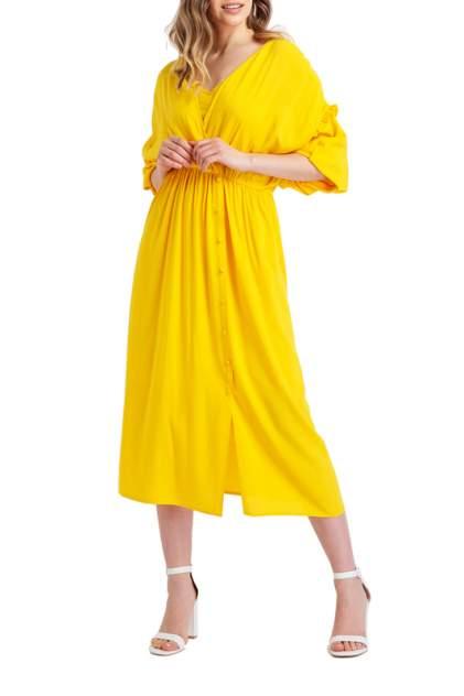 Платье женское BGN S19D197 желтое 38 FR