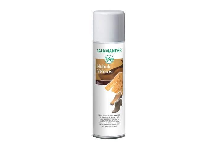 Аэрозоль для обуви Salamander nubuk velours темно-коричневый 250 мл