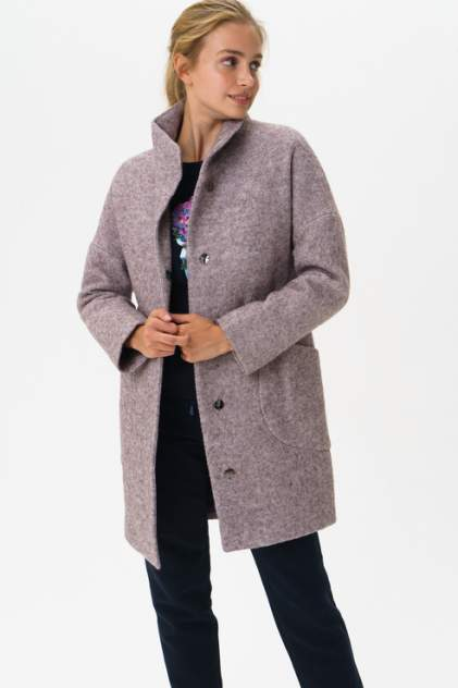 Пальто женское ElectraStyle С3У-7007/1-138 фиолетовое 40 RU