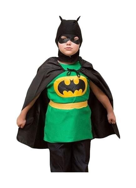 Карнавальный костюм Бока Бэтмен, цв. зеленый; черный р.122