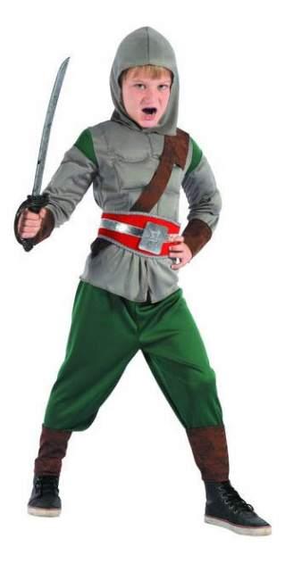 Карнавальный костюм Snowmen Рыцарь, цв. зеленый; серый р.122