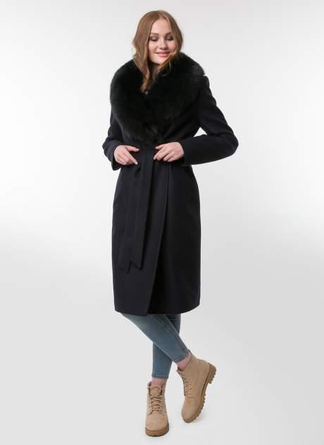 Пальто женское idekka д-1802 синее 40 RU