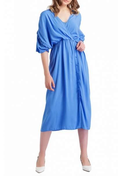 Платье женское BGN S19D197 голубое 38 FR