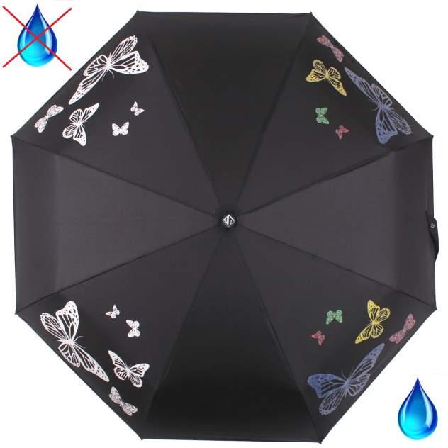 Зонт складной женский автоматический Flioraj 210202 FJ черный
