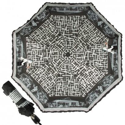 Зонт складной женский автоматический Emme Е/ M442-OC/Café De Paris черный