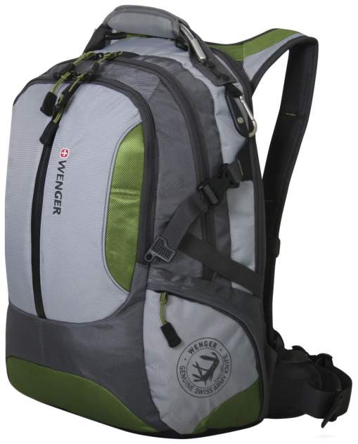 Рюкзак Wenger Large Volume Daypack зеленый/серый 35 л