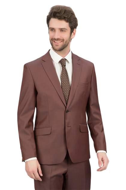 Пиджак мужской BAZIONI 3221-2 PALERMO LUX коричневый 48 RU