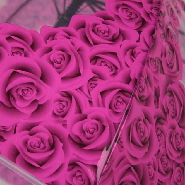 Зонт-трость женский полуавтоматический Flioraj 121215 FJ розовый