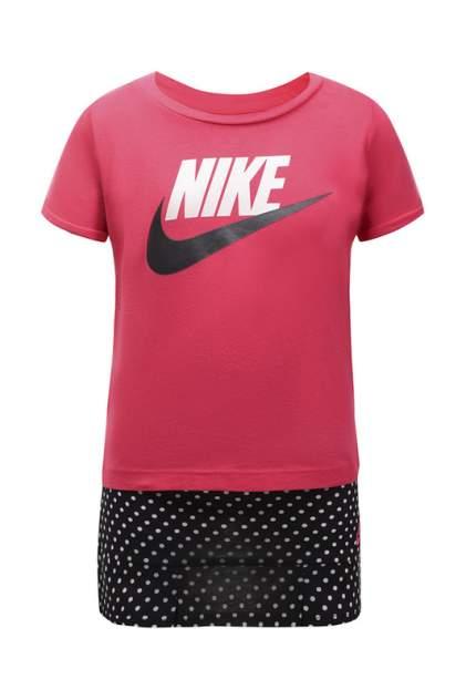 Комплект: футболка, юбка для девочек Nike, 104 р-р