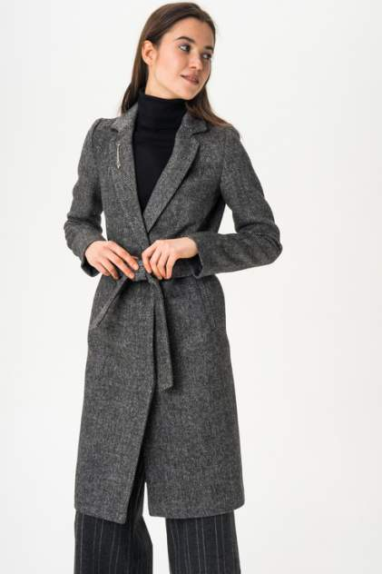 Пальто женское ElectraStyle 4-5642-317 серое 42 RU