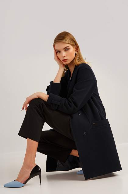 Женское пальто Finn Flare B19-11089, синий