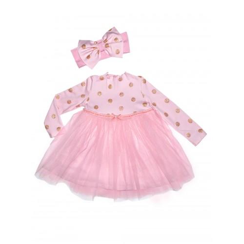 Платье детское Bon&Bon, цв.розовый