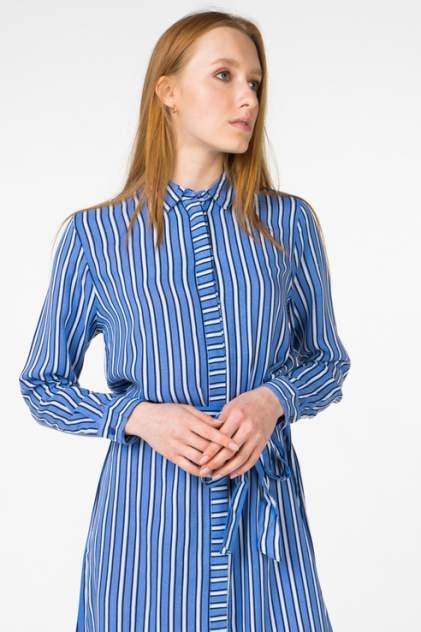 Платье-рубашка женское b.young 20805874 голубое 36 EU