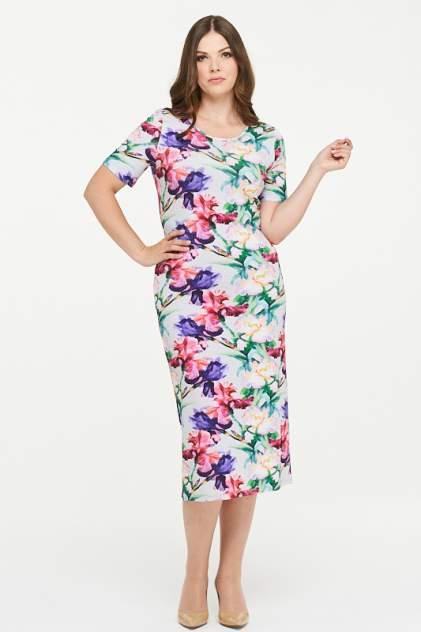 Платье женское VAY 181-3434 серое 52 RU