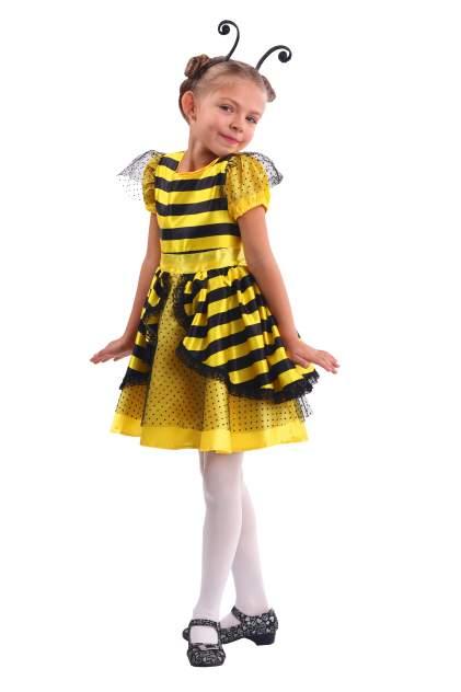 Карнавальный костюм Батик Пчела, цв. желтый; черный р.104