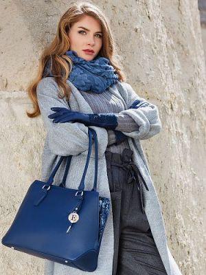 Палантин женский Eleganzza IN23-0916 синий
