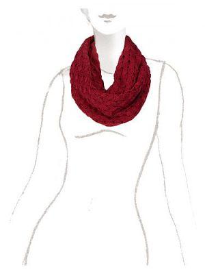 Снуд женский Eleganzza DB33-6404 красный