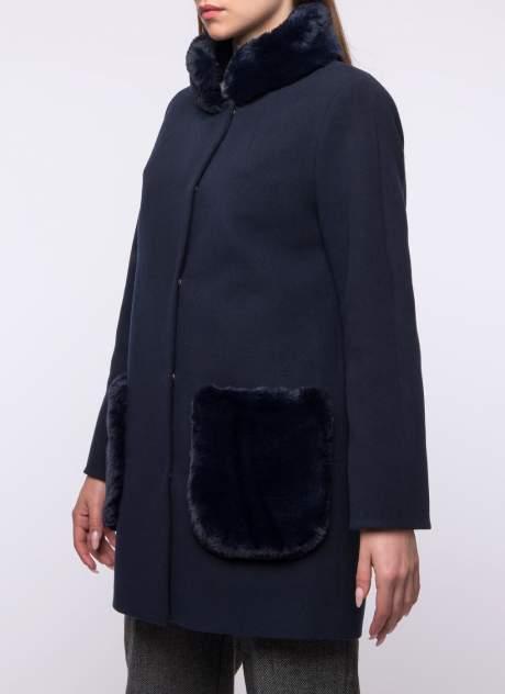 Пальто женское Каляев К-18-403 синее 44 RU