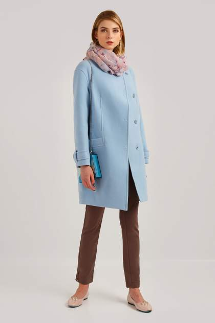Пальто женское Finn Flare B19-11089 голубое XL