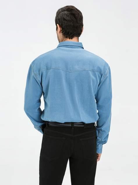 Джинсовая рубашка мужская Velocity PRIME 16-B28 голубая S