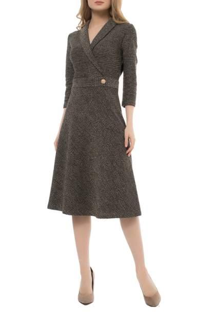 Платье женское Argent VZD913429 коричневое 48 RU