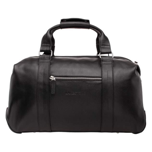 Дорожная сумка кожаная Lakestone 97543 черная 49 x 23 x 23
