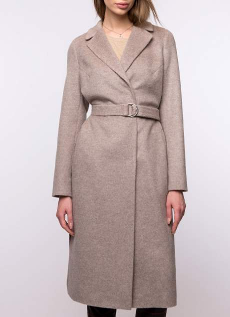 Пальто женское Каляев К-18-34 бежевое 50 RU
