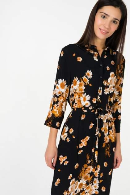 Платье-рубашка женское ICHI 20107087 черное 34 EU