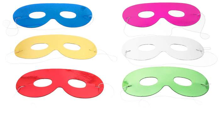 Аксессуар для карнавала Snowmen Набор блестящих масок очки 6 шт. Е0306