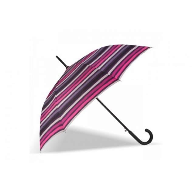 Зонт-трость женский полуавтоматический Isotoner 09457-4015 розовый/черный