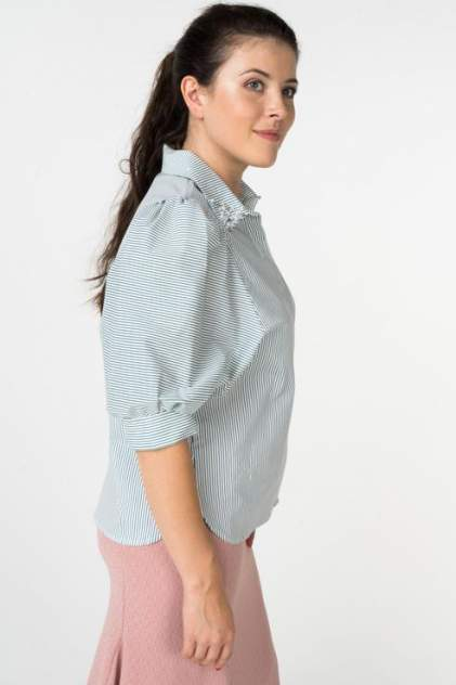 Рубашка женская ZARINA 8225102331017 зеленая 42 RU