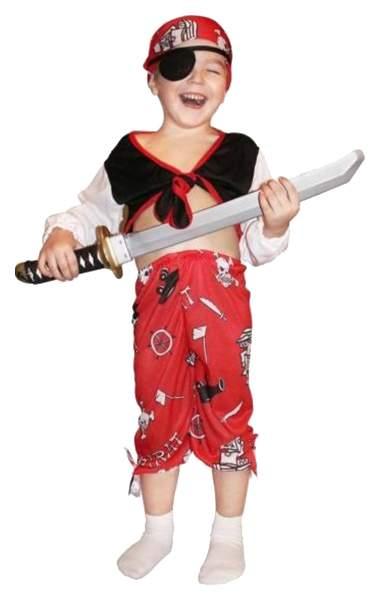 Карнавальный костюм Snowmen Пират, цв. красный; черный; белый р.98