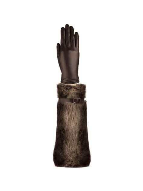 Перчатки женские Eleganzza IS59020 коричневые 6.5
